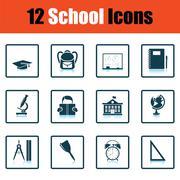 School icon set Piirros