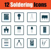 Set of soldering  icons Stock Illustration