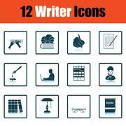 Set of writer icons Piirros