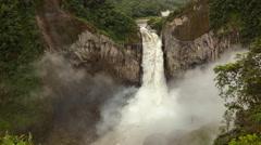 Time-lapse of San Rafael Falls, the largest waterfall in Ecuador Stock Footage