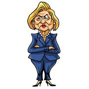Caricature of Hillary Clinton, United States Democratic Presidential Candidate Stock Illustration