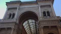 Vittorio Emanuele shopping Gallery, ULTRA HD 4K,real time Stock Footage