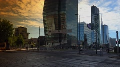 New architectural complex in Milan, ULTRA HD 4k, real time Stock Footage
