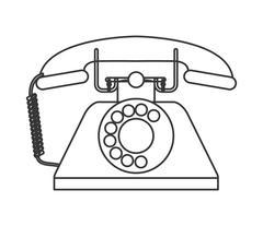 Retro rotary telephone icon Stock Illustration