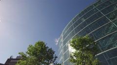 Modern Glass Headquarter Stock Footage