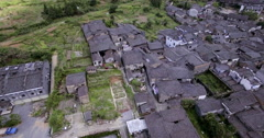 UAV aerial Chinese traditional tile-roofed house Stock Footage