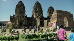 Phra Prang Sam Yod Temple Stock Footage