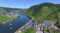 A view from above the small town Beilstein, Germany Stock Footage