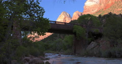 Bridge in Zion Stock Footage