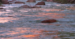 Virgin river red rock reflection Stock Footage