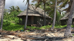 Tsunami damaged resort Kona Village Stock Footage