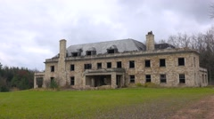 Time lapse of an abandoned and spooky old boarding school or mansion in the Stock Footage