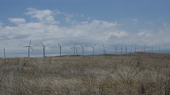 Wind power farm on the Big Island of Hawaii Stock Footage
