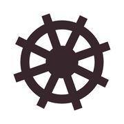 boat rudder icon - stock illustration
