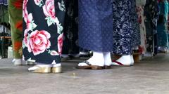 4K Matured senior women singing stage Japanese Festival in Munich Germany Europe Stock Footage
