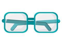 square frame glasses icon - stock illustration