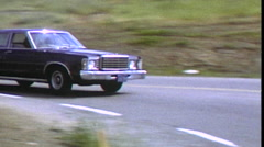 Vintage 1980s Super 8 Driving Sequence with Ford Granada Stock Footage