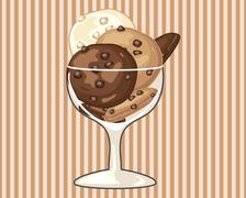 Cookie dessert Stock Illustration