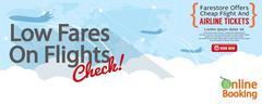 Cheap Flight For Sale 1500x600 Banner Vector Illustration Stock Illustration