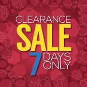 Clearance Sale Background Vector Illustration Stock Illustration