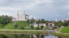 Uspensky Cathedral in Vitebsk Stock Footage