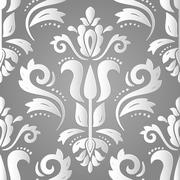 Seamless Vector Oriental Pattern With 3D Elements Stock Illustration