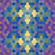 Kaleidoscopic low poly hexagon style vector mosaic background Stock Illustration