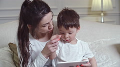 Exploring New Gadget with Kid Stock Footage
