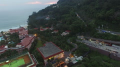 A small street conect between Patong beach to Karon beach Stock Footage