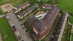 Small townhouse and apartment village is in Moscow region Stock Footage