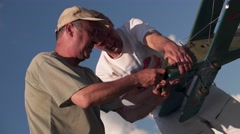 Tuning Model Aircraft in male hands Stock Footage