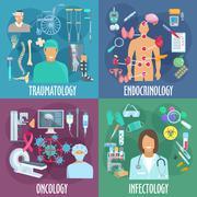 Traumatology, endocrinology, oncology, infectology Piirros