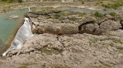 Montenegrin Niagara waterfalls, Podgorica, Montenegro Stock Footage