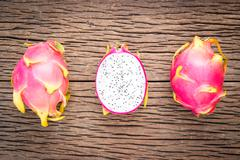 Nature can be pretty weird sometimes, Dragon-fruit are nutritious tropical Stock Photos