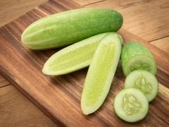 Nature can be pretty weird sometimes, cucumber are nutritious, that way Diet Stock Photos