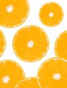 Orange fruit renowned for its concentration of vitamin C Stock Photos
