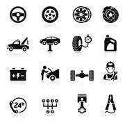 Car service maintenance icon set1. Vector illustration. Stock Illustration