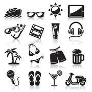 Travel icons set3. vector Stock Illustration