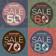 Women Tennis Apparel Sale Vector Illustration Stock Illustration