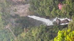 Time-lapse of Pailon del Diablo Waterfall, vertical format Stock Footage