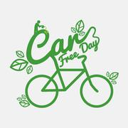 Car Free Day Concept Vector Illustration Stock Illustration