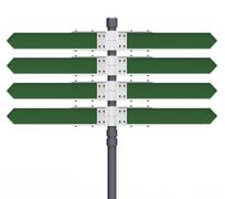 3d blank signs pointing directions Stock Illustration
