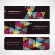 Vector Abstract Header Background. Stock Illustration