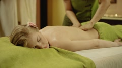 thai massage at spa - stock footage