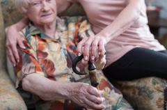 Assistance to the elderly Stock Photos