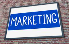 Marketing concept on a billboard Stock Photos