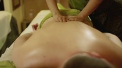 aromatherapy oil massage - stock footage