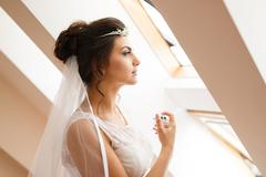 Morning of the bride - stock photo