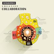Collaboration flat design Stock Illustration