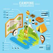 Camping concept design Stock Illustration